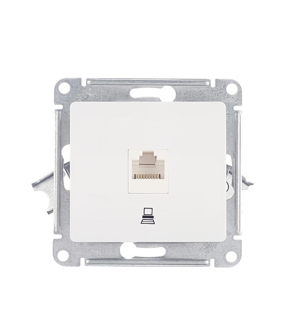Механизм розетки компьютерной с/у Schneider Electric Glossa белый