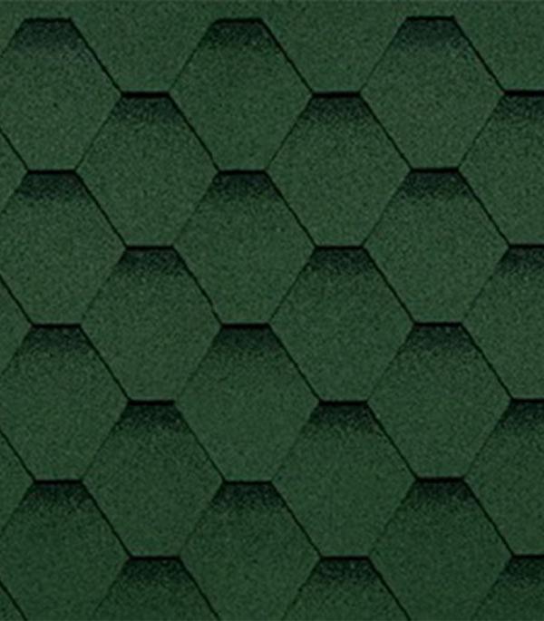 Черепица битумная ШИНГЛАС серия Финская, соната, зеленый 3 м.кв.