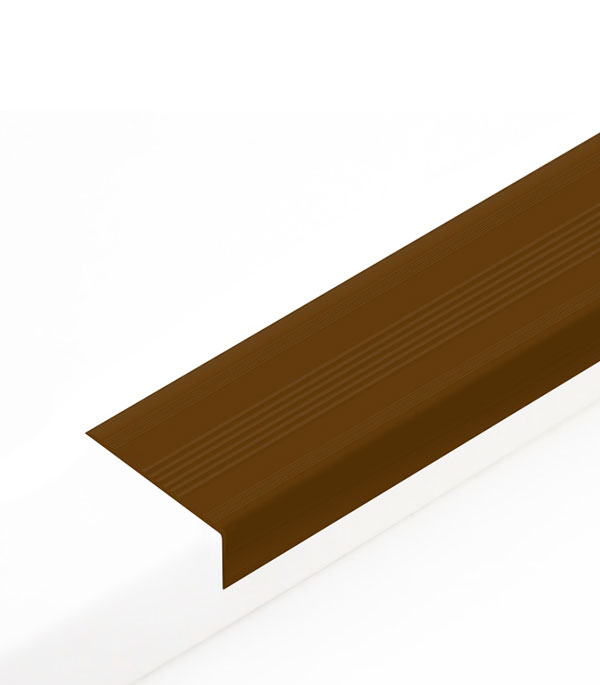 Угол антискользящий для ступеней 42х20х900 мм Коричневый