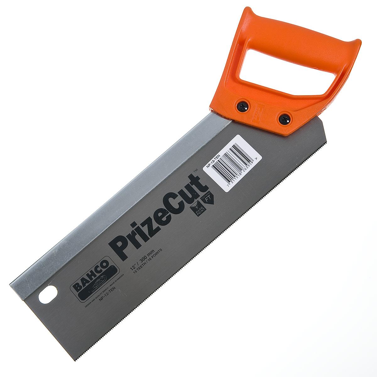 Ножовка по дереву 300 мм с обушком (мелкий зуб) Bahco Профи