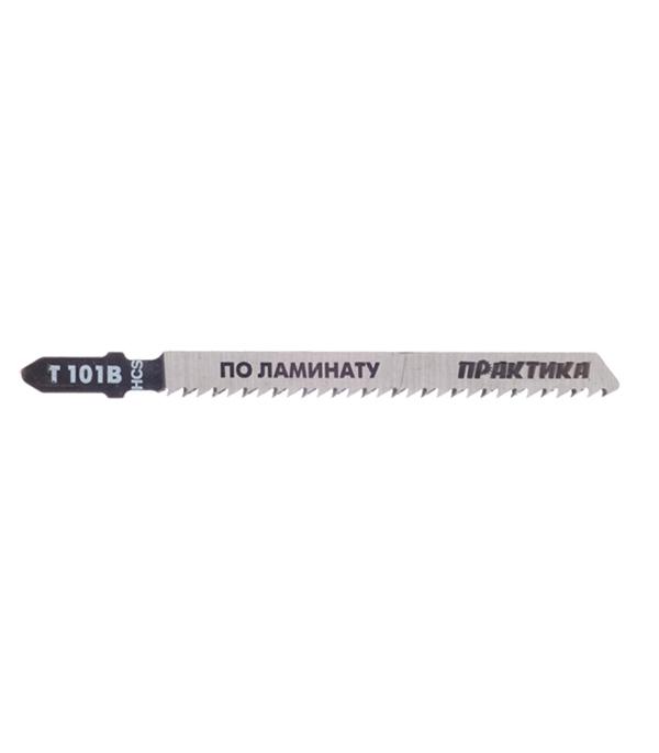 Пилки для лобзика по ламинату для прямых пропилов Практика T101В 3-30 мм (2 шт) пилки для лобзика по металлу для прямых пропилов t318bf 2 шт 2 5 6 мм стандарт