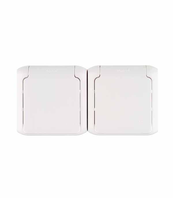 Розетка двойная LegrandQuteo о/у с заземлением с крышкой влагозащищенная IP 44 белая розетка двойная legrandquteo о у с заземлением с крышкой влагозащищенная ip 44 белая