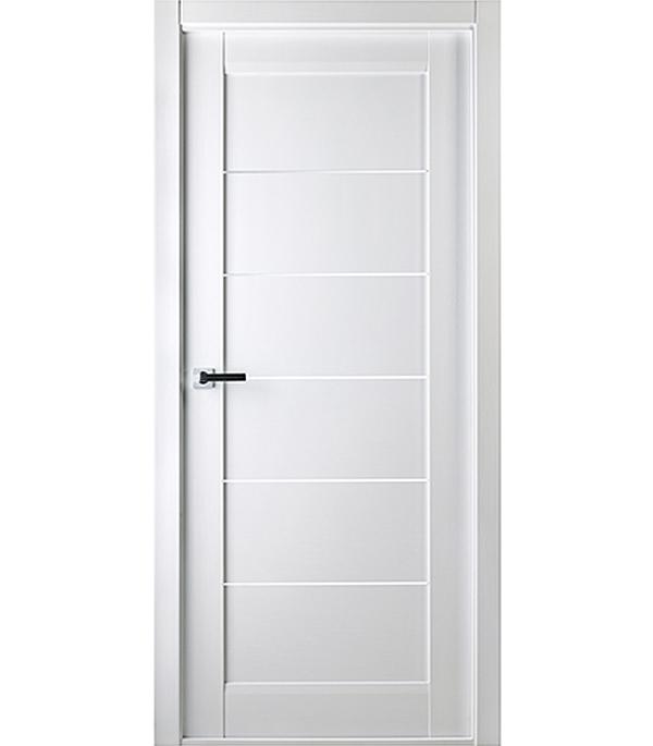 Дверное полотно Белвуддорс Мирелла шпонированное Бьянко нобиле 700x2000 мм без притвора