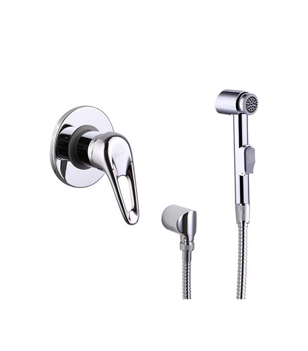 Смеситель с гигиеническим душем LEMARK LUNA LM4119C встраиваемый со скрытой частью в комплекте смеситель с душем недорого купить