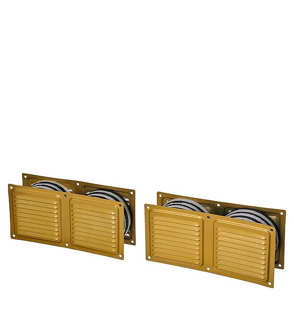 Клапан вентиляционный дверной 400 х 100 мм золото Двервент