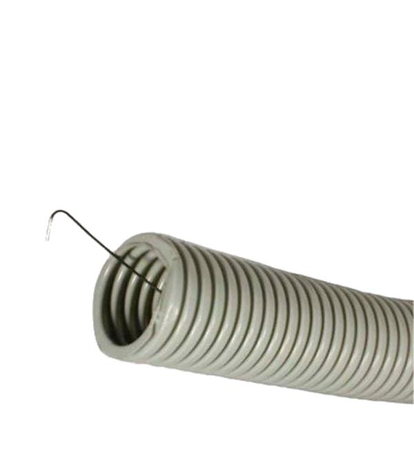 Труба ПВХ 20 мм гофрированная с зондом (100 м) ДКС