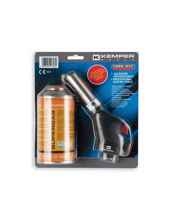 Лампа паяльная газовая с пьезоподжигом 1060 kit Kemper