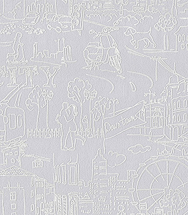 Обои  виниловые на флизелиновой основе 1,06x10  м   ASNOVA  Down Town  арт.9303-06