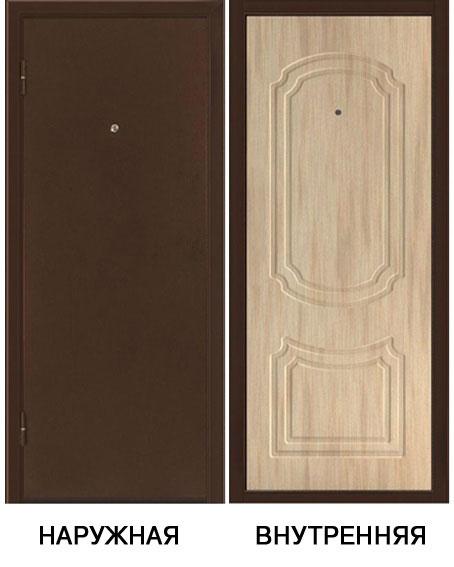 Дверь металлическая ФОРТ-3 880x2050 мм левая, без ручки