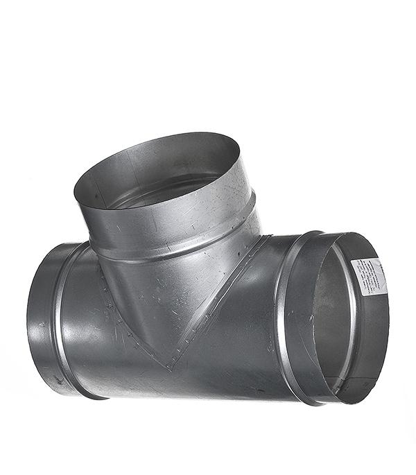 Тройник для круглых воздуховодов оцинкованный d160 мм 90° профиль оцинкованный для теплиц
