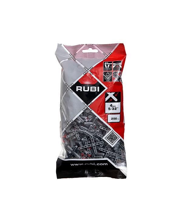 Крестики для плитки Rubi 4 мм (200 шт) лента для уровня колокола rubi 100шт 02981