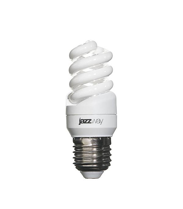 Лампа энергосберегающая E27,  9W, MiniSpiral , 2700K (теплый свет), Jazzway