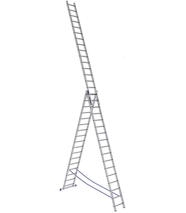 Лестница Stairs 3-х секционная 3х17 лестница алюминиевая 3 х секционная 9 ступеней в спб