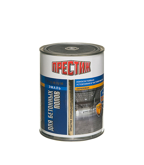 Эмаль для бетонных полов акриловая серая Престиж 1 кг