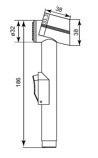 Душ гигиенический со шлангом 1500 мм IDDIS