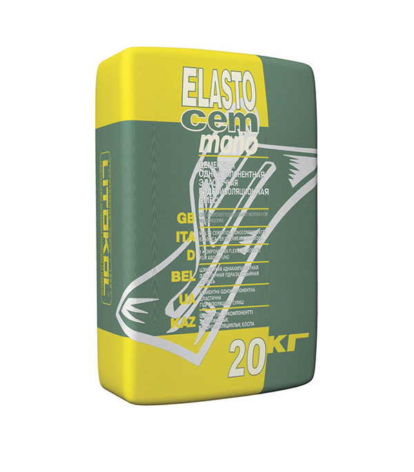 Гидроизоляция однокомпонентная Elastocem mono 20кг