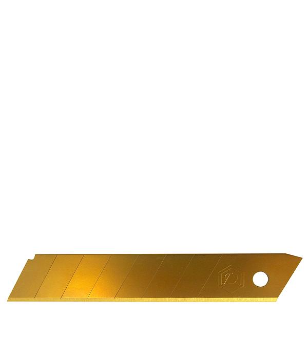 Лезвие для ножа прямое, титановое покрытие 18 мм 5 шт Стандарт