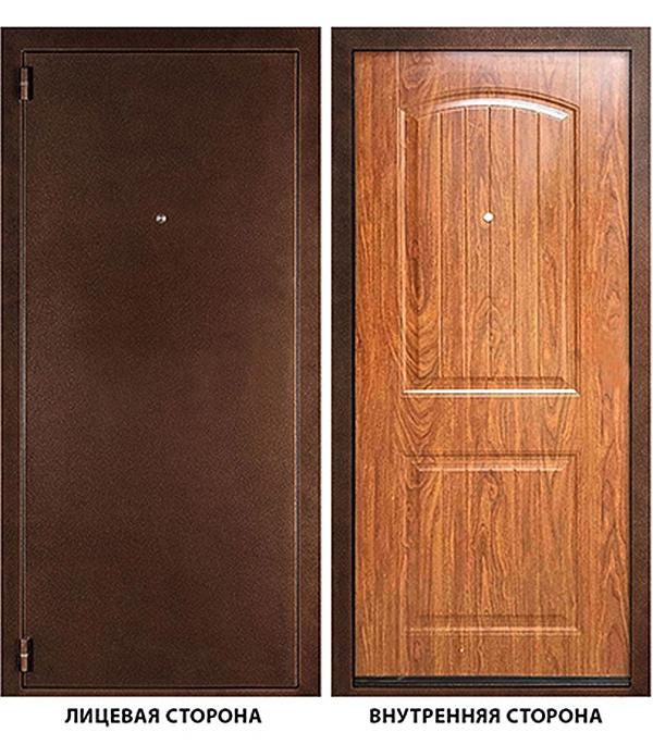 Дверь металлическая ДК Гамма (Классика) 980х2050 мм левая, без ручки