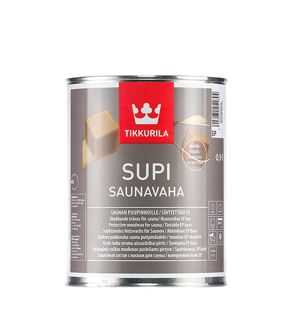 Защитный состав Tikkurila Supi Saunavaha основа EP 0.9 л  состав для полка tikkurila supi laudesuoja защитный бесцветный 1л