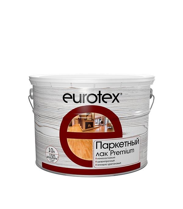 Лак паркетный Eurotex Premium полуматовый 10 л