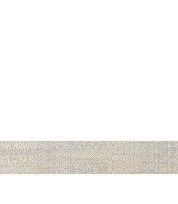 Керамогранит бордюр 70х400х9 мм Linen светло-бежевый/Грасаро