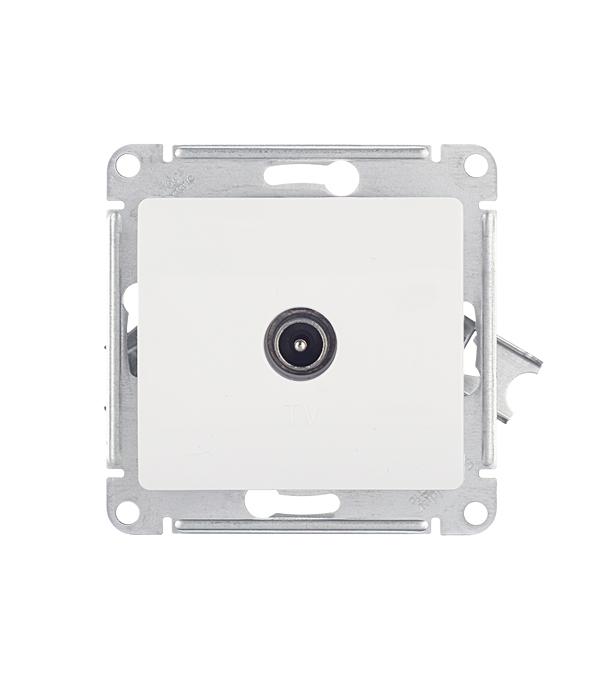 Механизм розетки телевизионной Schneider Electric Glossa с/у белый механизм выключателя schneider electric glossa белый 1 клавишный с подсветкой gsl000113