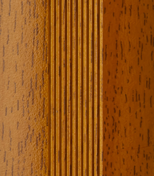 Порог для кромок ступеней 25х25х900 мм вишня
