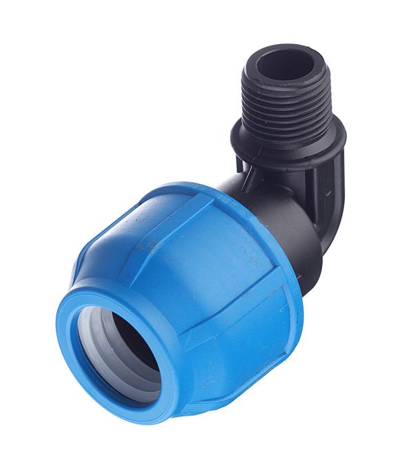 Угол ПНД компрессионный переходный 25х1/2  НР, РТП кран шаровой компрессионный 25х25 мм ртп