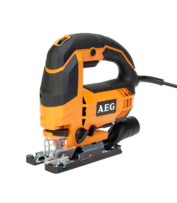 Лобзик электрический STEP 100X 700 Вт AEG пилки для лобзика по ламинату для прямых пропилов практика t101aif 3 30 мм 2 шт