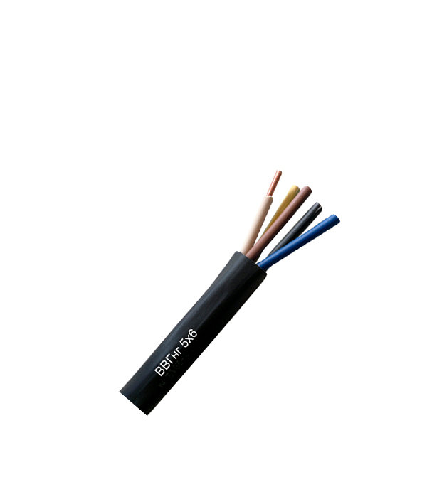 Кабель ВВГнг 5х6 100 м  кабель ввгнг ls 5х6