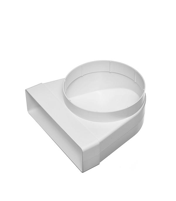 Соединитель угловой 90? пластиковый для плоских воздуховодов 60х204 мм с круглыми d160 мм