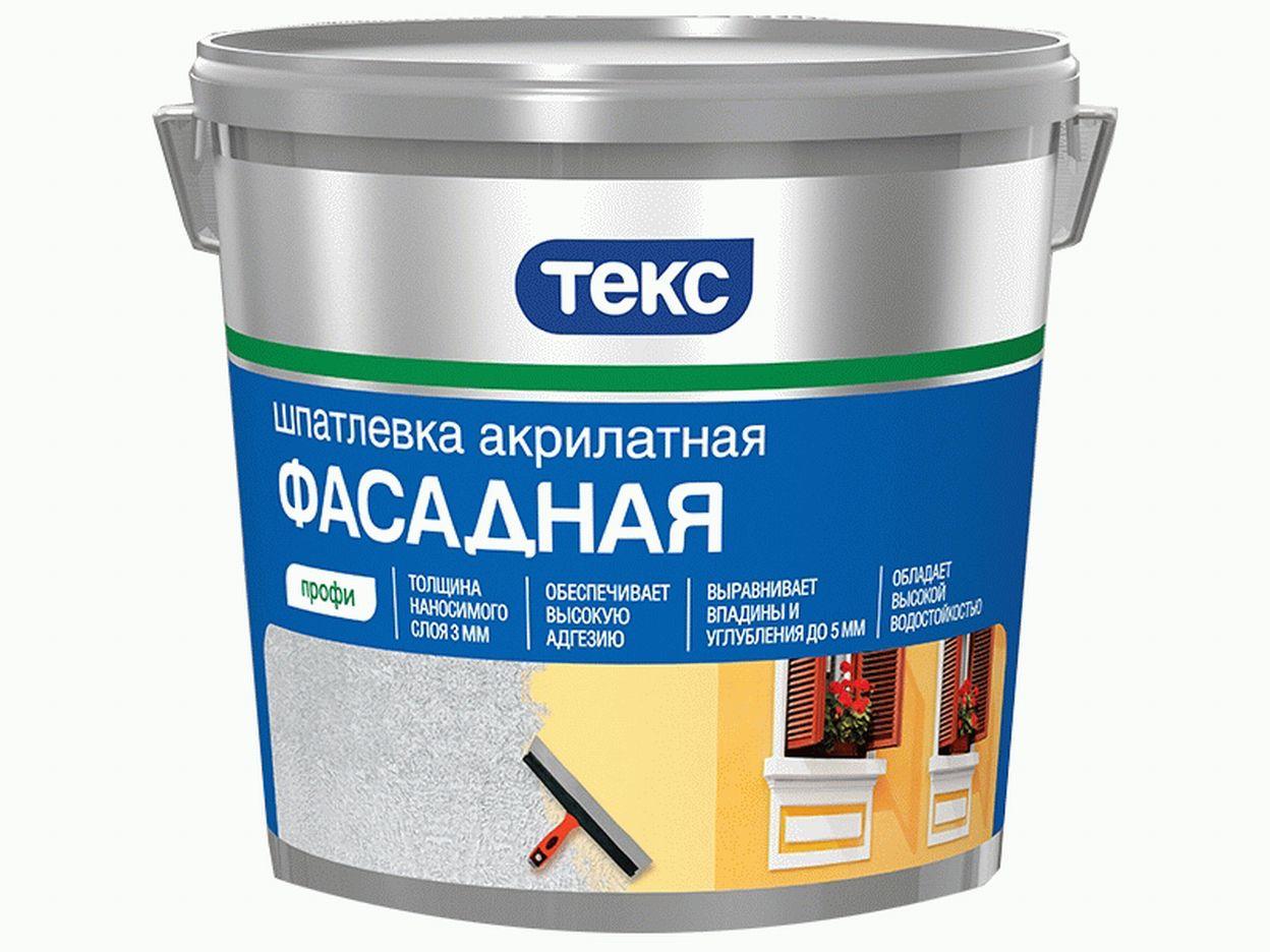 Шпатлевка фасадная акрилатная профи Текс 5 кг