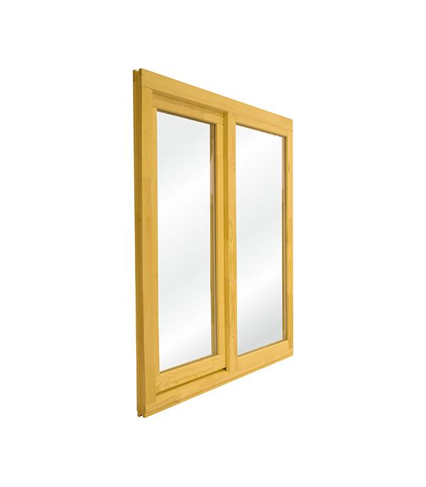 Окно деревянное террасное 1160х1000 мм 2 створки