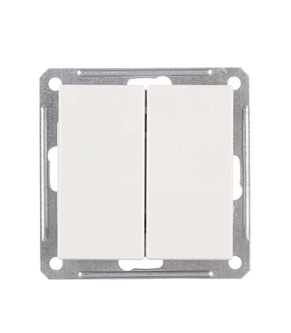 Механизм выключателя двухклавишного Schneider Electric Wessen59 белый