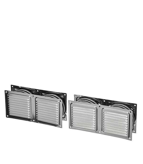 Клапан вентиляционный дверной 400 х 100 мм хром Двервент
