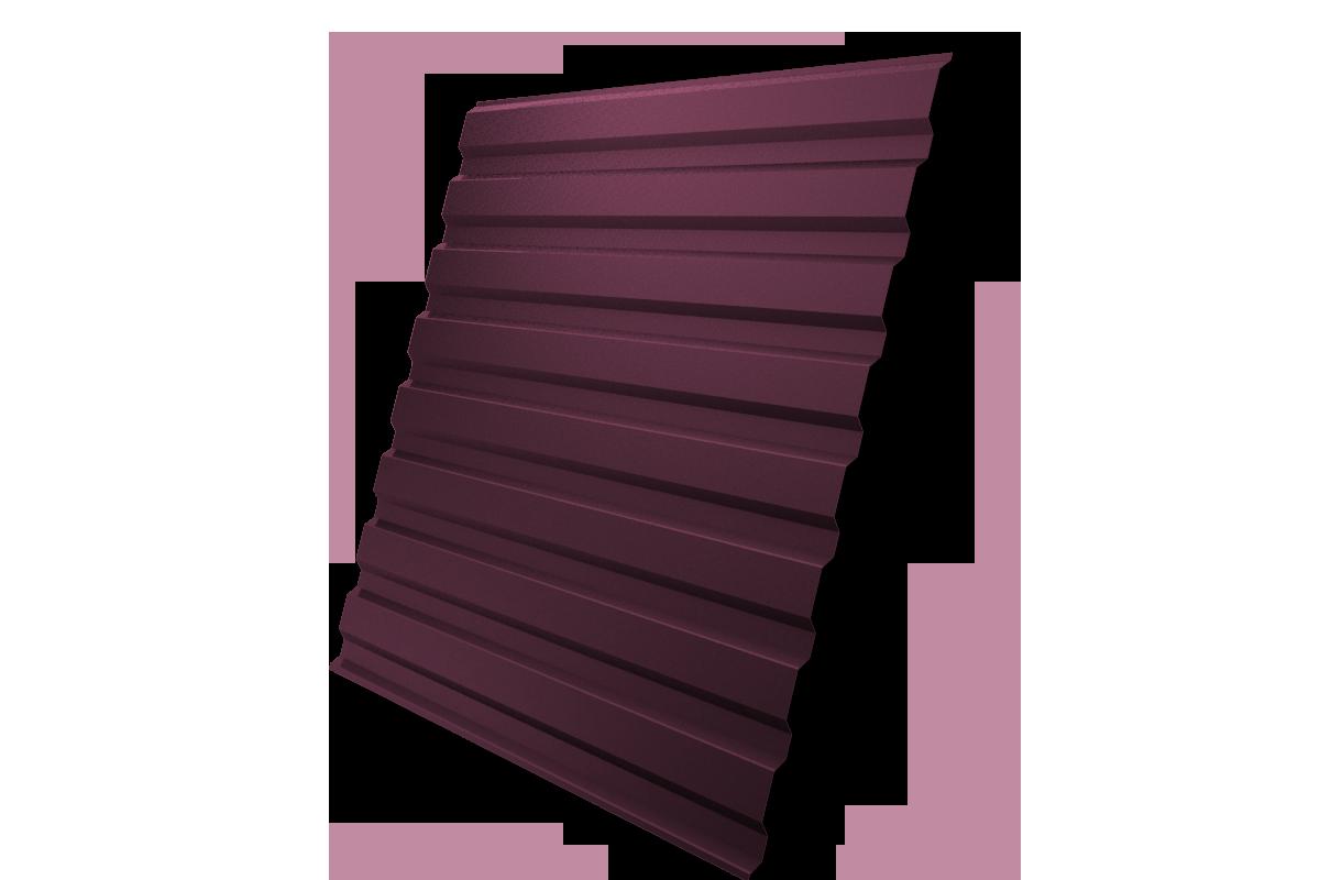 Профнастил С-20 1,15х2,00 м, толщина 0,5 мм красное вино RAL 3005