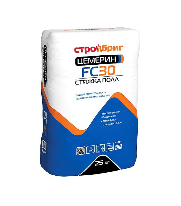 Стройбриг Цемерин FC30 (стяжка пола для толстослойного выравнивания), 25 кг
