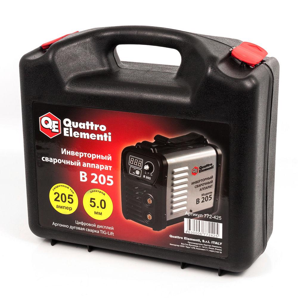 Сварочный аппарат (инвертор) Quattro Elementi B 205, 170В, 205А, ПВ 80%, до 5.0 мм, дисплей