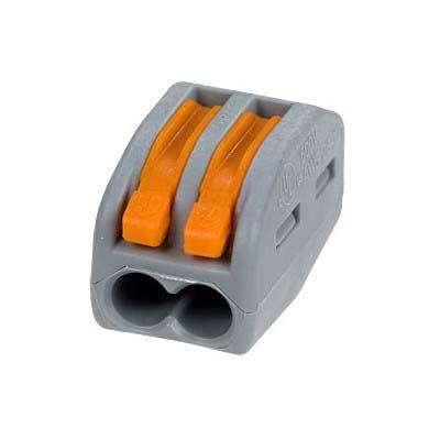 Зажим (клемма) на 2 провода с рычажком (0,08-2,5 мм.кв), (50 шт), Wago