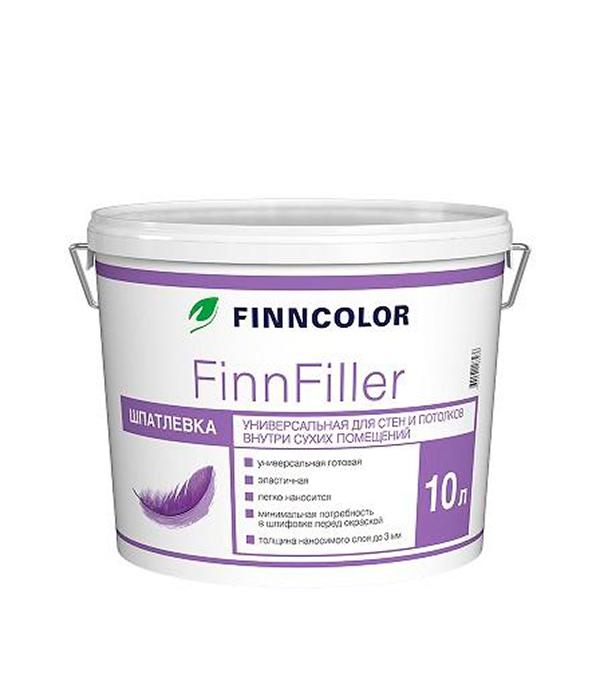 Шпатлевка финишная Finnfiller Финнколор 10 л шпатлевка финишная maxi dulux 10 л