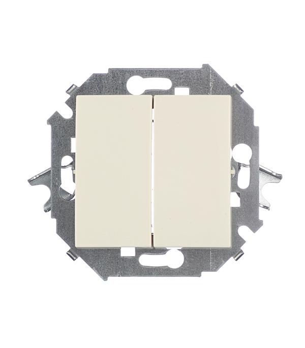 Проходной выключатель двухклавишный Simon 15 проходного 16А слоновая кость simon simon 82 слоновая кость накладка светорегулятора сенсорного мех 75305 39 82034 31