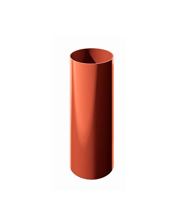 Труба водосточная пластиковая d90 мм красная 1,5 м Технониколь