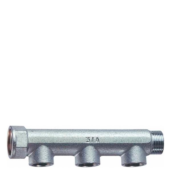 Коллектор  3/4 внутр(г)х3 отвода 1/2 внутр(г)х3/4 нар(ш) Valtec евроконус icma 16 х 2 мм 3 4
