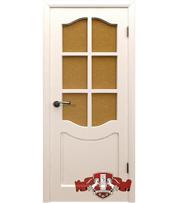 Дверное полотно  ДПО  Классика белое  800x2000 мм без притвора со стеклом