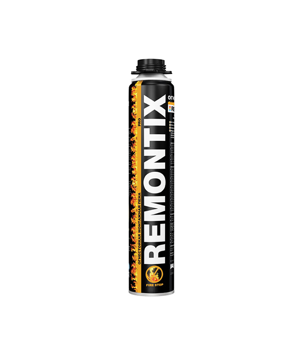 Пена монтажная Remontix Pro огнестойкая профессиональная 750 мл пена монтажная момент монтаж профи пожаростойкая 750мл