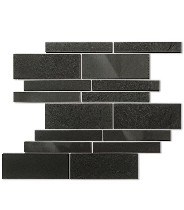 Керамогранит декор 300х395х10,5 мм мозаика универсальная Черный/ Керамика Будущего