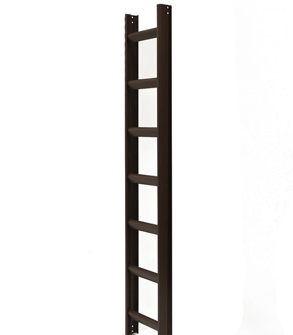 Лестница кровельная алюминиевая 7 ступеней коричневый RAL 8017 лестница алюминиевая 6 м купить