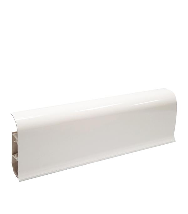 Плинтуспвх смягкимкраемWimar 58 мм серия колибри белый (58х22х2500мм) плинтуспвх смягкимкраем