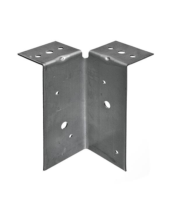 Опора столба универсальная оцинкованная 145х65х50х2 мм