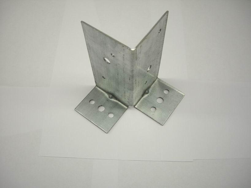 Опора столба универсальная оцинкованная 145х65х50х2 мм (1 шт.)